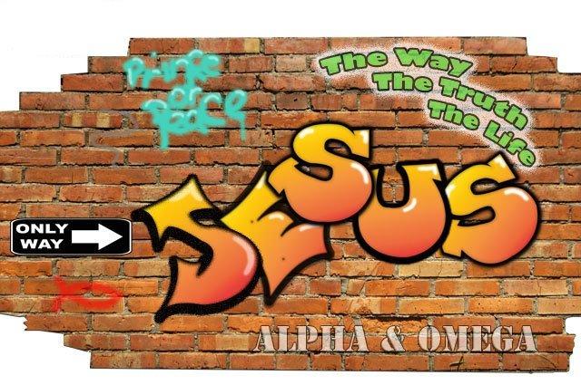 Youth Group Jesus Brickwall